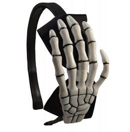 New Black&White Skeleton Hand Alice Band