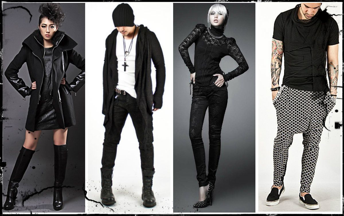 Gothic Girl Leather Fashion