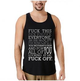 Profanity Spoken Sleeveless Shirt For Men
