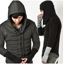 Unique Built In Warmer Wool Turtle Hood Knit