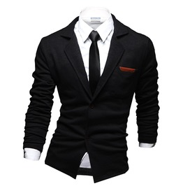 Men's Patch Ponte Cardigan Black