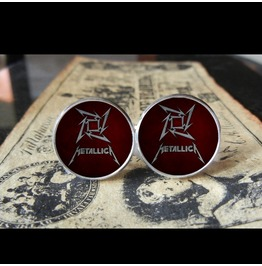 Star Logo (Burgundy/Red) Logo Cuff Links Men, Weddings,Grooms, Thrash