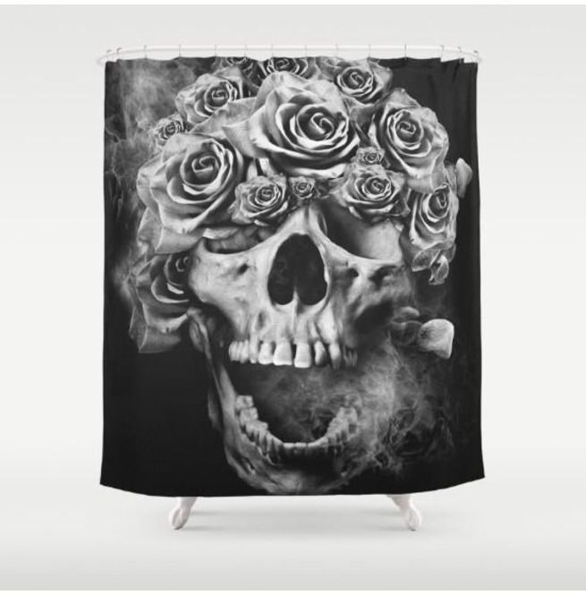 Decorative Skulls Shower Curtain Cool Gifts Home