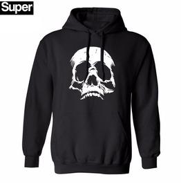 Skull Punk Rock Mens Hood Men Black Hoodies Hat Fleece Casual Men M Xxl