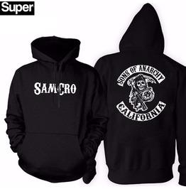 Skull Punk Rock Mens Hood Men Black Hoodies Hoodie Casual Men M L Xl Xxl