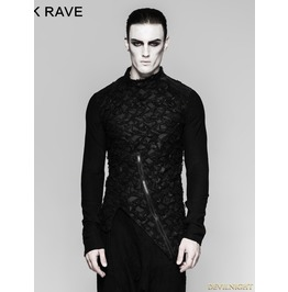 Black Gothic Decadent Heavy Punk Long Sleeve Mens T Shirt T 458