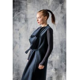 Blue Women´S Wool Jacket / Wool Vest / Wrap Vest / Wrap Coat / Wool Coat /