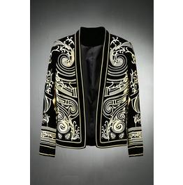 Gold Embroidery Velvet Blazers