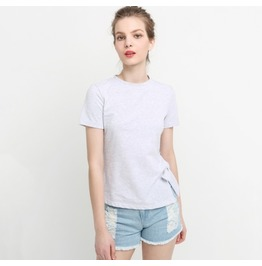 New Street Fashion Women's Solid Color Side Slit Open T Shirt