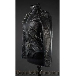 Spiked jacket faux leather jackets