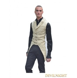 Yellow Alternative Pattern Gothic Vest For Men Y010028 Y