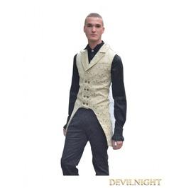 Yellow Alternative Pattern Gothic Vest For Men Y010028 Y