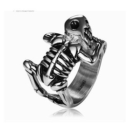 Gothic Titanium Steel Gothic Punk Men's Ring Xpr10142