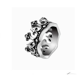 Gothic Metal Gothic Punk Crown Rings Xpr10153