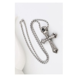Gothic Titanium Steel Gothic Punk Cross Pendent Necklace N6430008