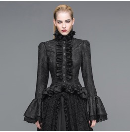 Women's Lace Trimmed Layered Ruched Floral Lace Bell Sleeve Tops Sht01701