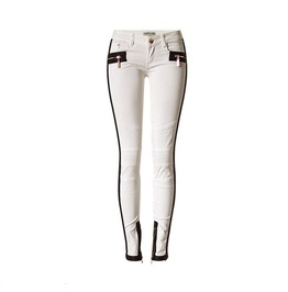 Women's Multi Zip Colorblock Low Waisted Skinny Jeans