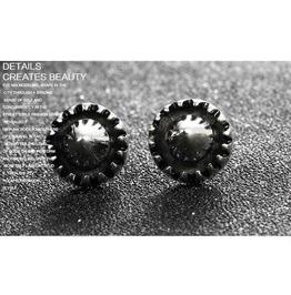 Gothic Titanium Steel Gothic Punk Star Earring Xpe20372