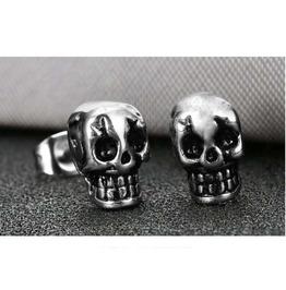 Gothic Titanium Steel Gothic Punk Skull Earring Xpe20367