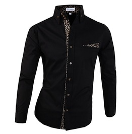 Shirt Ndp099 S Color : Black