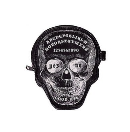 Banned Apparel Power Trip Coin Purse Ouija Occult Skull Gothic