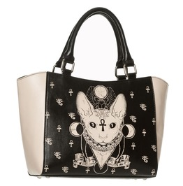 Banned Apparel Bastet Small Tote Egyptian Occult Sphynx