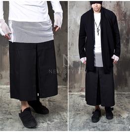 Wile Fit Capri Drawcord Black Sweatpants 241