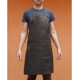 Leather Apron For Chef Butcher And Metalworkers Tirel Deluxe From One Leaf