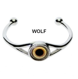 Men's Animal Or Fantasy Eye Cuff Bracelet |Choose From 16 Custom Glass Eyes