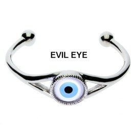Designer Open Cuff Bracelet With 21 Different Handcrafted Glass Eyes