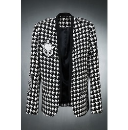 Hound's Tooth Check Blazer Jacket