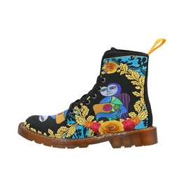 Funky Picasso Style Canvas Boots
