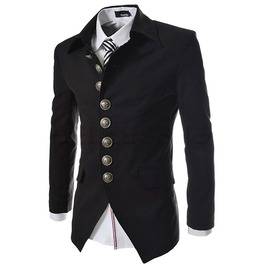 Multi Button Mens Casual Slim Fit Suit Blazer Jacket