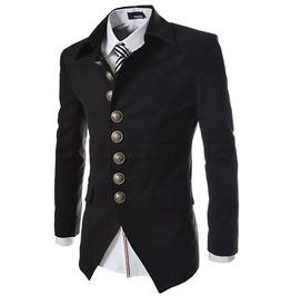Multi Button Mens Casual Slim Fit Suit Blazer Jacket