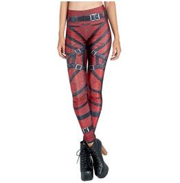 Fashion Women's Skinny 3d Printed Stretchy Pants Slim Elastic Leggings