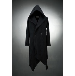 Dark Long Hooded Jacket