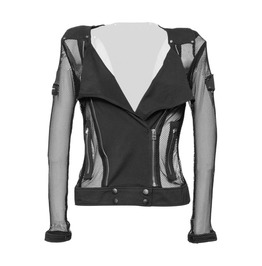 Gothic Fishnet Jacket For Women's Hot And Sexy Punk Mesh Black Jacket