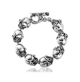 Gothic Titanium Steel Gothic Punk Skulls Bracelet Xpb70180
