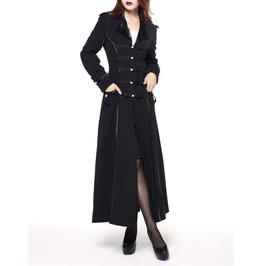 Women's Gothic Victorian Long Coat Goth Womens Military Black Elspeth Coat
