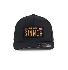 Black Adjustable Red Devil Sinner Cap