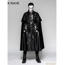 Black Long Cloak Steampunk Jacket For Men Y 747