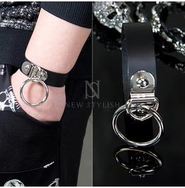 O Ring Black Belt Bracelets 72