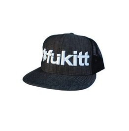 Cool Traditional Fukitt Black Denim Cap