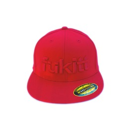 Bold Red Monocromatic Unisex Fitted Cap