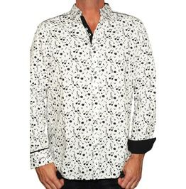Men's Long Sleeve Music Lover Button Up Shirt