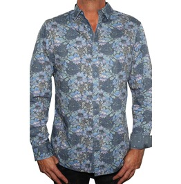 Men's Floral Long Sleeve Button Up Shirt
