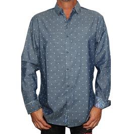 Men's Micro Skull Button Up Long Sleeve Shirt