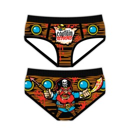 Funny Women's Underwear Captain Redbeard Period Panties