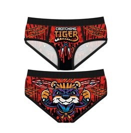 Funny Women's Underwear Crotching Tiger Period Panties