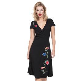 Voodoo Vixen Women's Primrose Black Wrap Dress